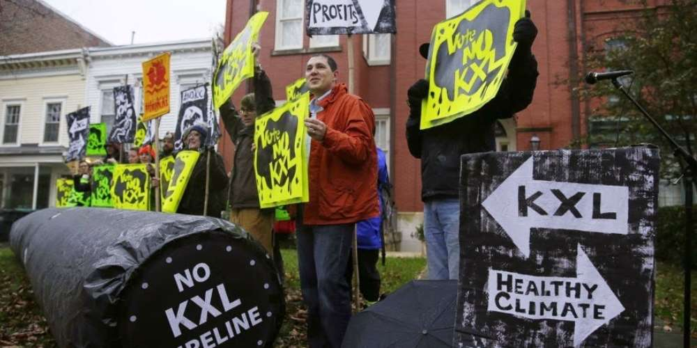Bruker oppblåsbare i kampen mot oljerørledning I USA