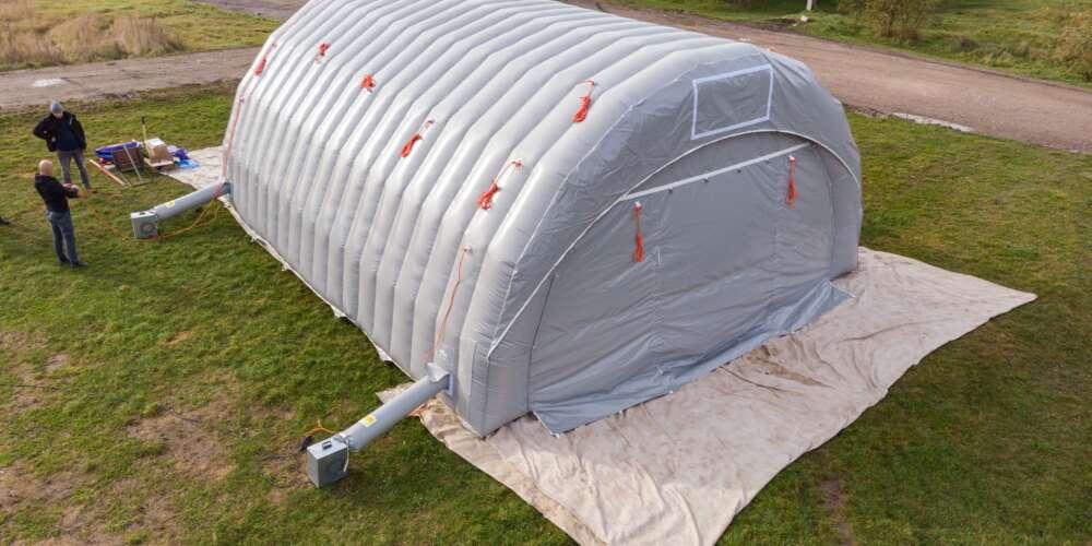 Byggtelt 6 modul 9 meter 12