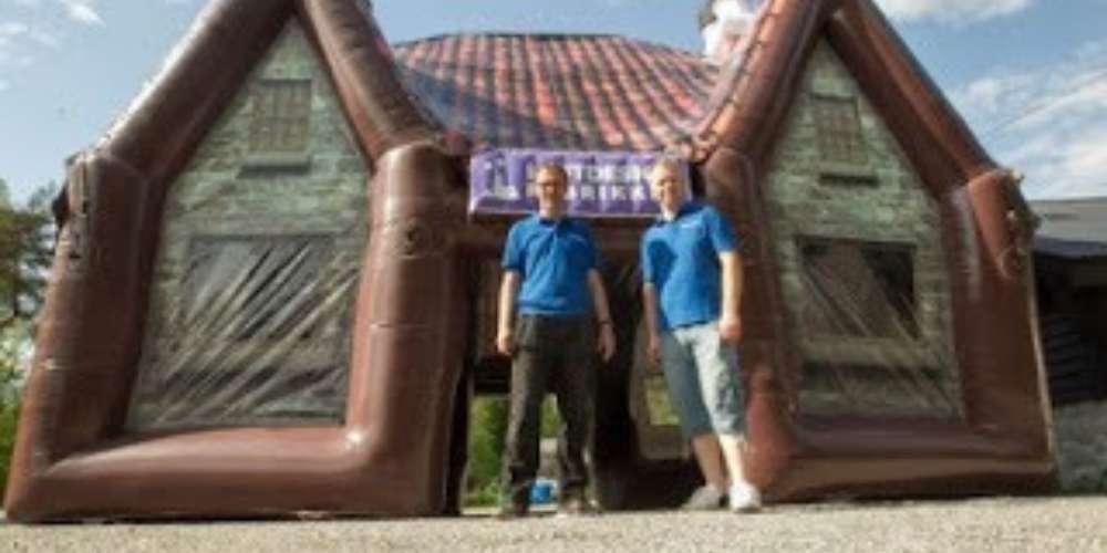 Oppblåsbar pub på nannestad festivalen