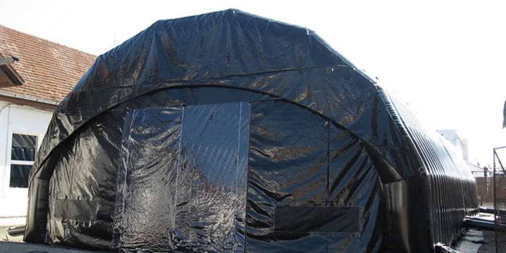 oppblasbare arbeidstelt plasthall byggtelt 18