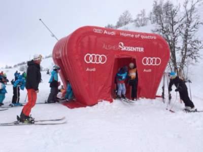 oppblasbart start telt alsheia skisenter audi