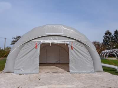 Byggtelt 6 modul 9 meter 1