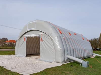 Byggtelt 6 modul 9 meter 2