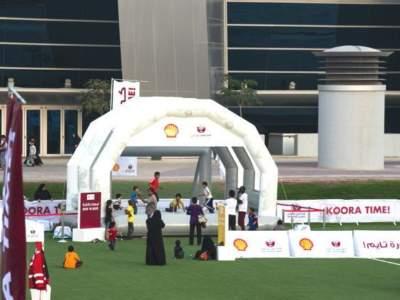 Oppblaasbar fotballpark fotballforbundet i Qatar 1