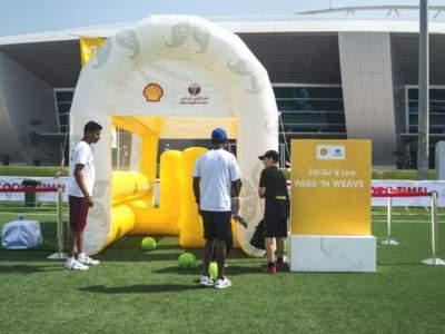 Oppblaasbar fotballpark fotballforbundet i Qatar 2