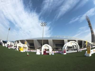 Oppblaasbar fotballpark fotballforbundet i Qatar 6