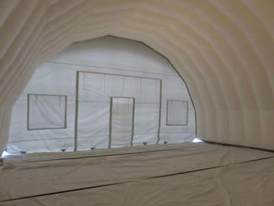 Arbeidstelt plasthall oppblasbare byggtelt 9 9