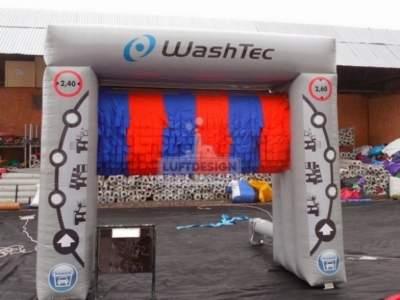 oppblaasbår reklame produkt kopi Wash Tec