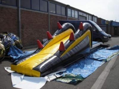 Oppblaasbare vannleker bassengsklier dive n slide ldf 0309 4