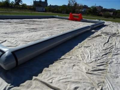Oppblasbar 3 er fotballbane levert kil hemne andre levering 5