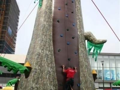 Oppblasbare spill klatrevegg gorillaen 10