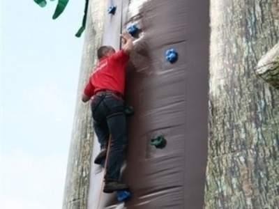 Oppblasbare spill klatrevegg gorillaen 8