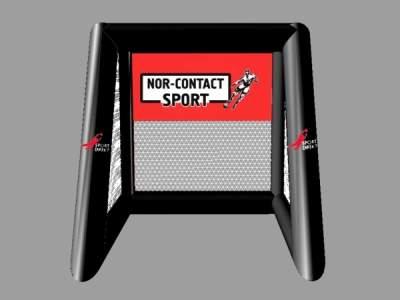 Pic74564ee 3 D skisse av fotballradar svart og hvit logo Nor Contact Sport