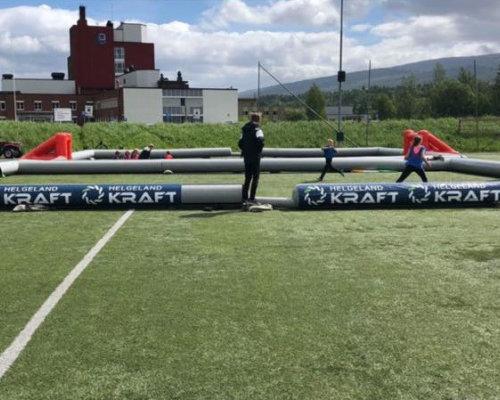 Oppblasbar 3 er fotballbane i bruk selfors ul