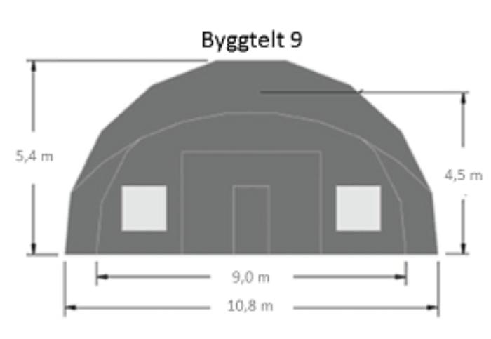 Arbeidstelt plasthall oppblasbare byggtelt 9 1
