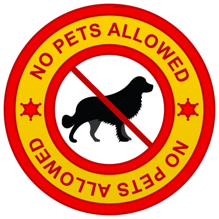 No pets allowed 1