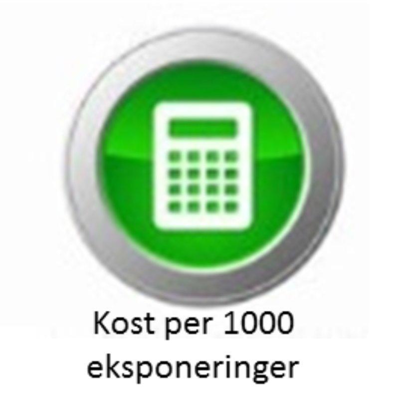 Kostnad per 1000 eksponering