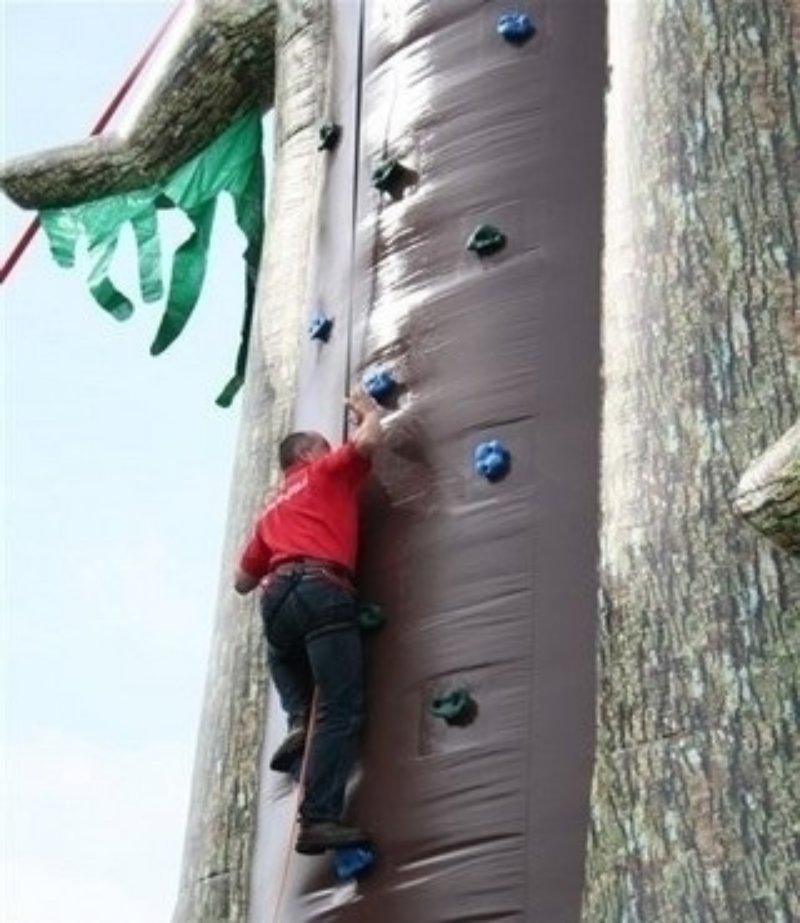Oppblasbare spill klatrevegg gorillaen 2