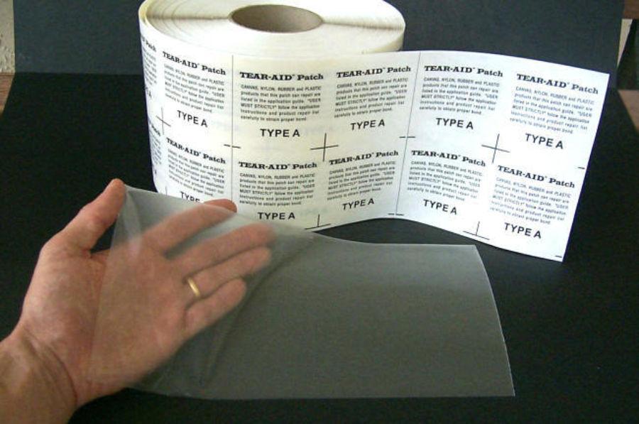 Tear aid repair roll blank tape